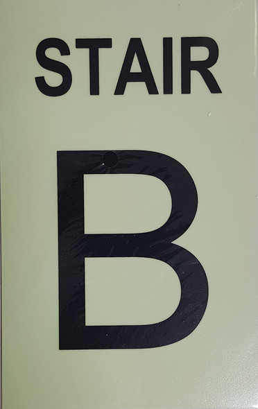STAIR B Sign GLOW IN THE DARK
