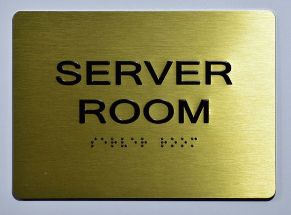 Server Room SIGN Tactile Signs  Ada sign
