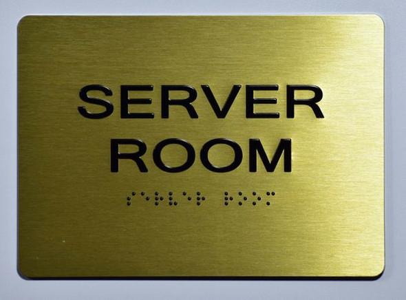 Server Room SIGN Tactile Signs  Ada sign
