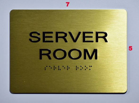 Server Room SIGN Tactile Signs   Braille sign