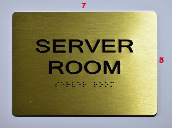 Server Room SIGN Tactile Signs   Braille sign