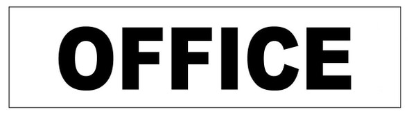 OFFICE Sign White