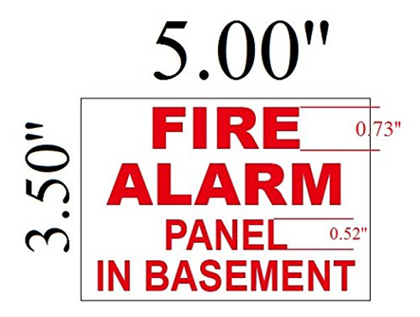 Fire Alarm Panel In Basement Signage with double sided tape