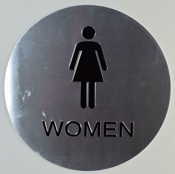 CA ADA Women Restroom E Sign -Tactile Signs  The Sensation line  Braille sign