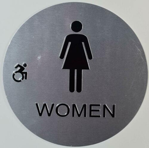 CA ADA Women ACCESSIBLE Restroom Sign -Tactile Signs  The Sensation line Ada sign
