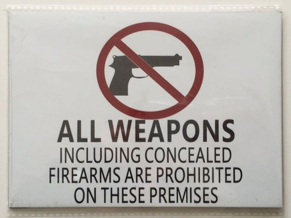 Concealed Carry Signage