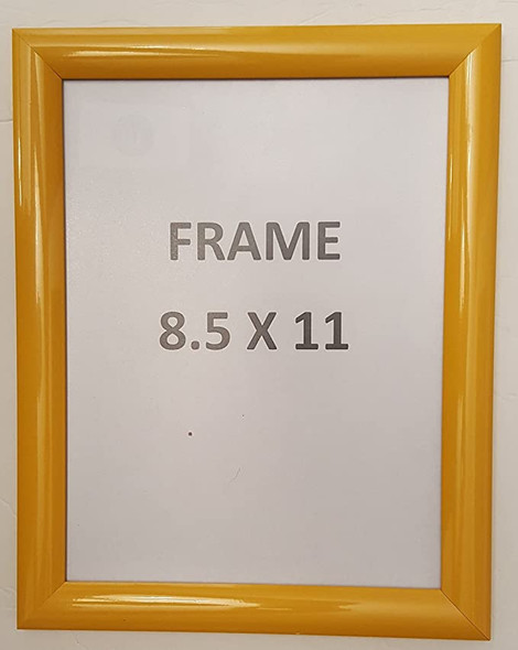 Yellow Snap Poster Frame/Picture Frame/Notice Frame Front Load Easy Open Snap Frame