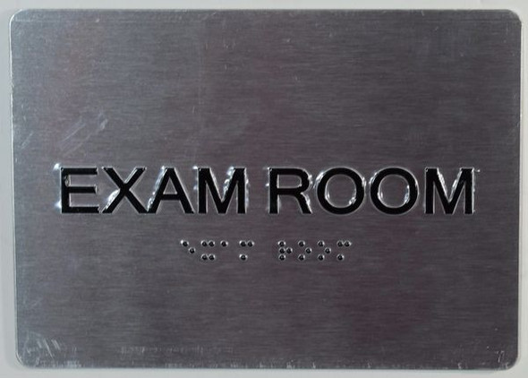 EXAM Room Sign with Tactile Text and   Braille sign -Tactile Signs  The Sensation line  Braille sign