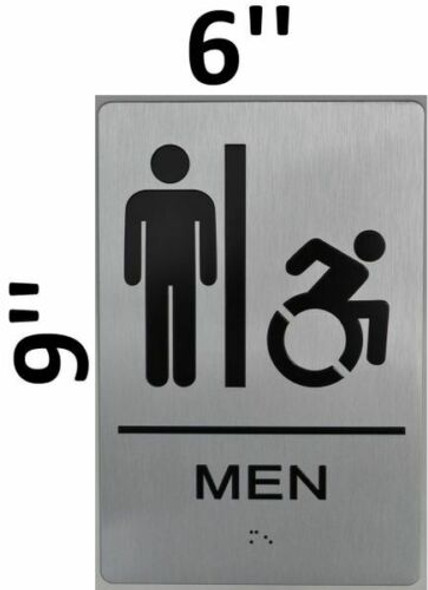 Men's Restroom Sign with Tactile Text and   Braille sign -Tactile Signs Tactile Signs The Sensation line  Braille sign