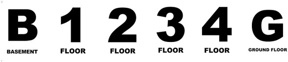 Floor Number Sign set