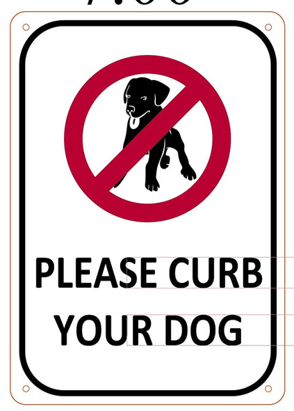 Please Curb your Dog sign