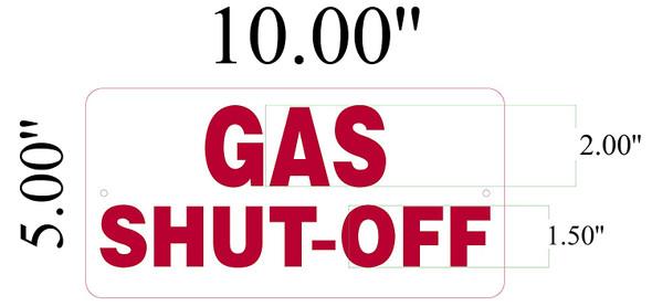 Gas Shut-Off Signage