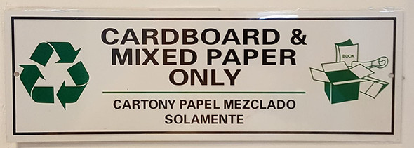 Cardboard and Mixed Paper Only Signage