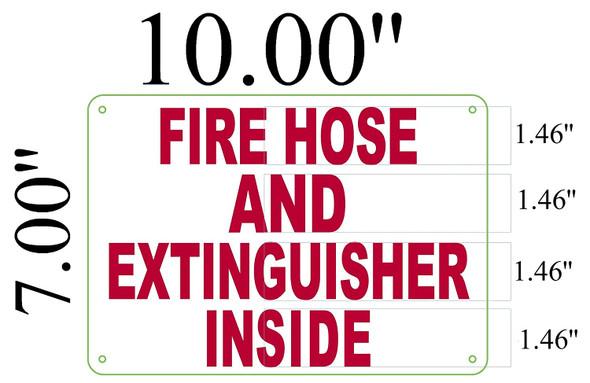 Fire Hose and Extinguisher Inside Signage