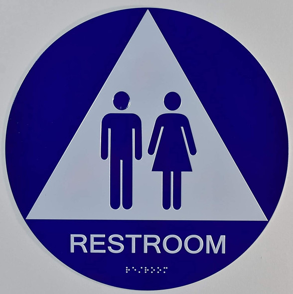 Unisex Restroom CA 128-ADA  The Sensation line -Tactile Signs  Braille sign