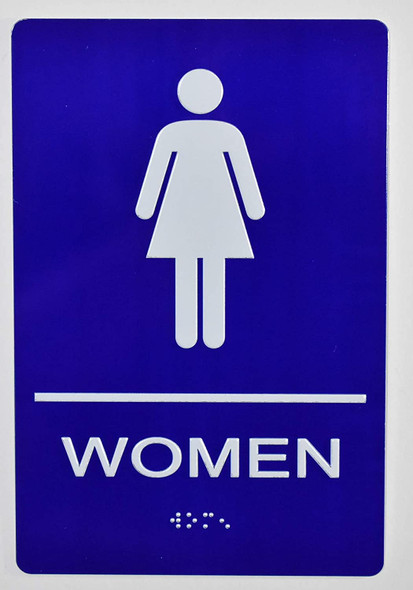 Woman Restroom Sign -Tactile Signs  The Sensation line  Braille sign