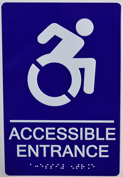ACCESSIBLE Entrance Sign -Tactile Signs Tactile Signs  ADA-Compliant Sign.  -Tactile Signs  The Sensation line  Braille sign