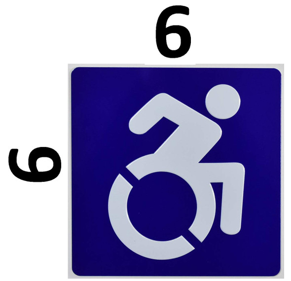 ADA International Symbol of Accessibility ISA) Sign