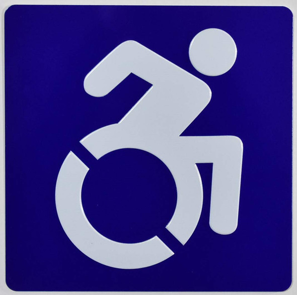 ADA-International Symbol of Accessibility (ISA) Sign Tactile Signs  Braille sign