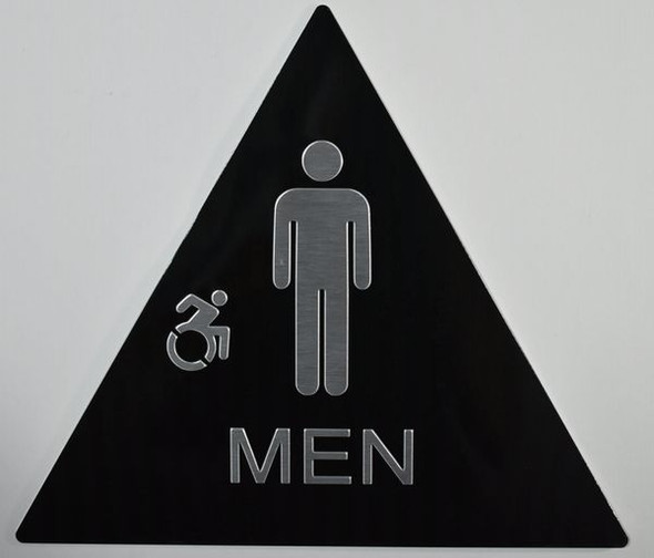 CA ADA Men Restroom accessible Sign