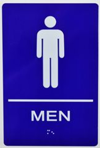 Men Restroom Sign -Tactile Signs  The Sensation line  Braille sign