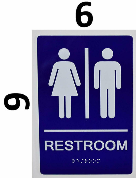 Unisex Restroom Sign  The Sensation line -Tactile Signs  Braille sign
