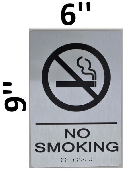 NO SMOKING Sign -Tactile Signs The sensation line  Braille sign