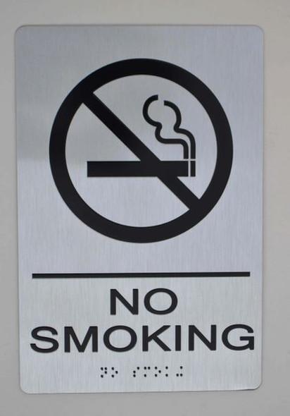 NO SMOKING SIGN ada silver
