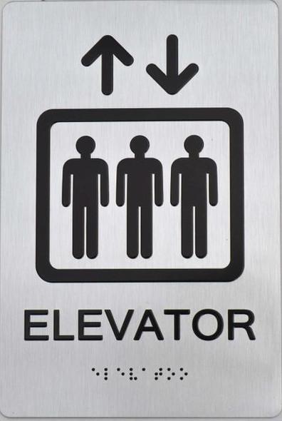 Elevator  Braille sign -Tactile Signs The Sensation line  Braille sign