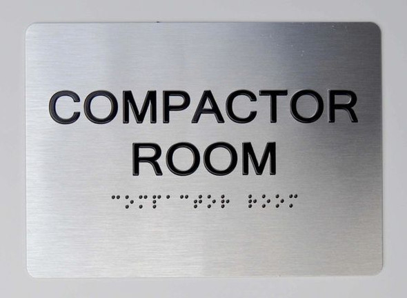 Compactor Room  Braille sign -Tactile Signs The Sensation line  Braille sign