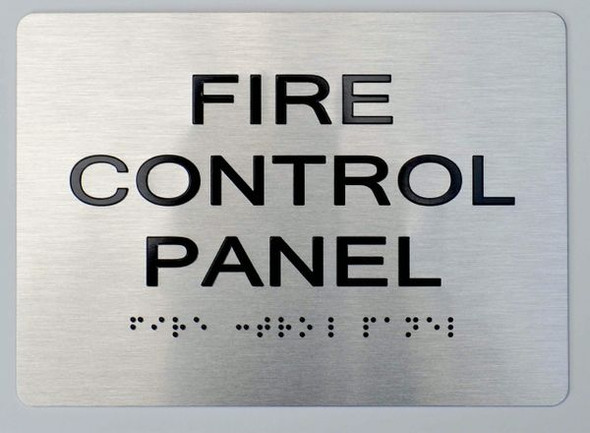 FIRE Control Panel  Braille sign -Tactile Signs The Sensation line  Braille sign