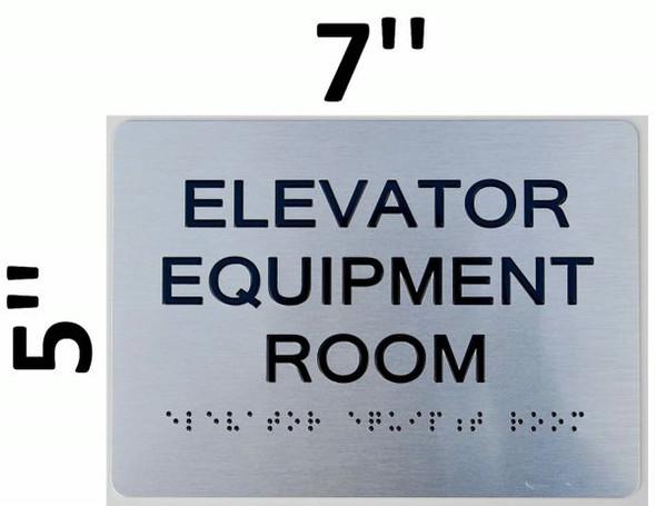 Elevator Equipment Room ADA Sign