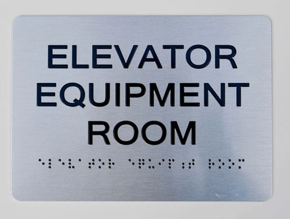 Elevator Equipment Room ADA-Sign -Tactile Signs The Sensation line  Braille sign