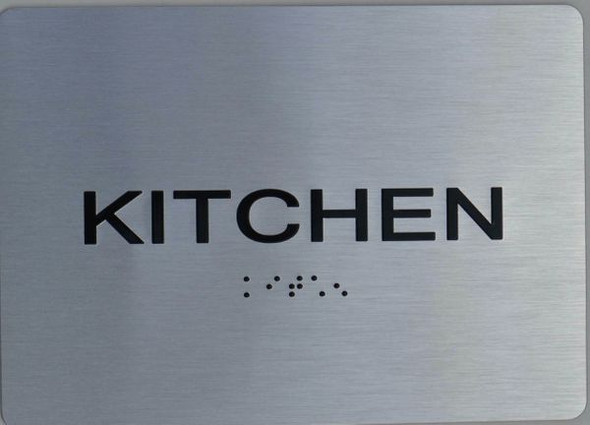 Kitchen ADA Sign The Sensation line -Tactile Signs Ada sign