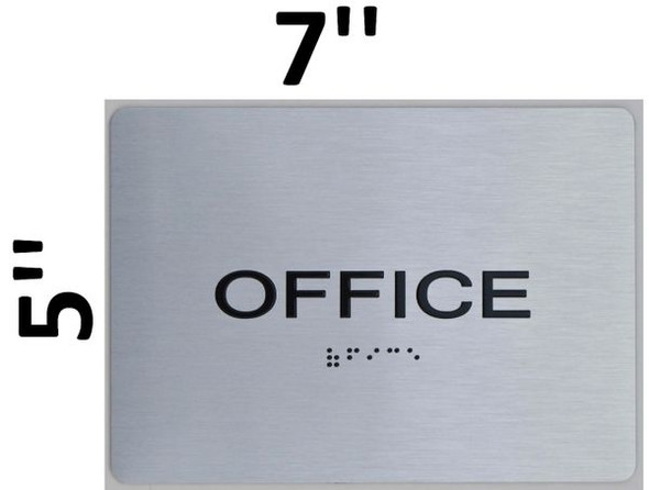Office ADA Sign silver
