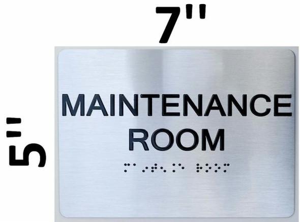 Maintenance Room ADA Sign