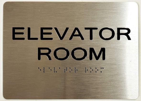 Elevator Room ADA-Sign -Tactile Signs The Sensation line  Braille sign