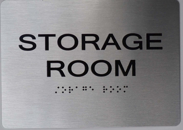 Storage Room  Braille sign -Tactile Signs The Sensation line  Braille sign