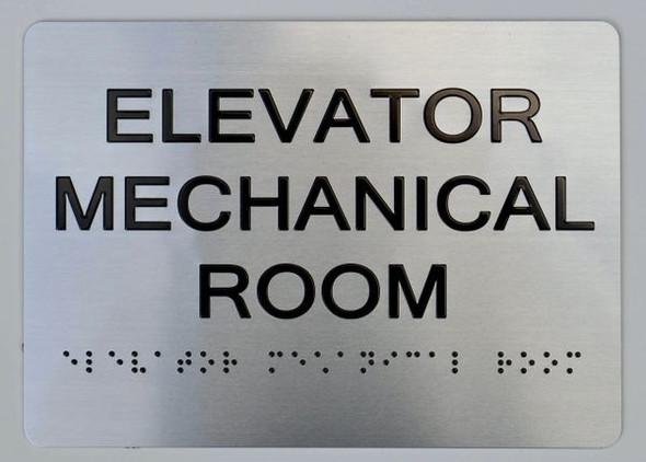 Elevator Mechanical Room ADA-Sign -Tactile Signs The Sensation line  Braille sign