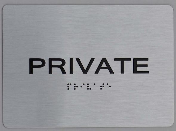 Private ADA Sign silver