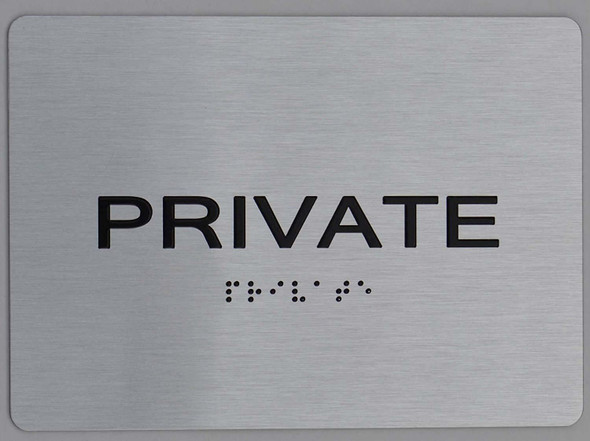 Private ADA-Sign -Tactile Signs The Sensation line  Braille sign