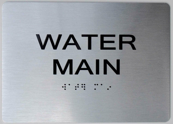 Water Main  Braille sign -Tactile Signs The Sensation line  Braille sign