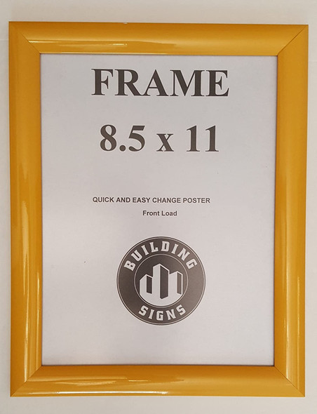 Yellow Snap Poster Frame/ Picture Frame / notice frame Front Load Easy Open Snap frame  Building Frame