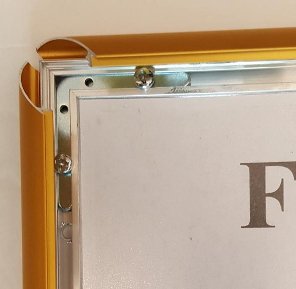 Gold Snap Poster Frame/Picture Frame/Notice Frame Front Load Easy Open Snap Frame  Building Frame