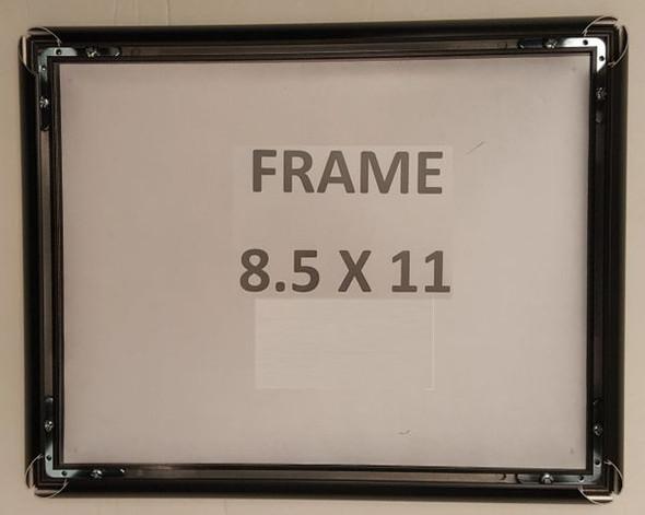 poster frame 8.5x11 black