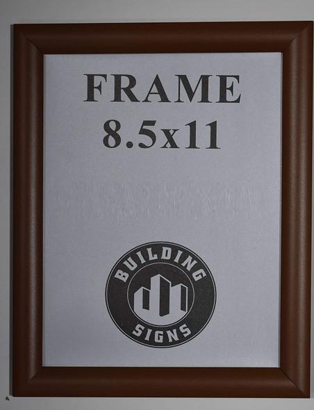 brown Snap Poster Frame/Picture Frame/Notice Frame Front Load Easy Open Snap Frame  Building Frame