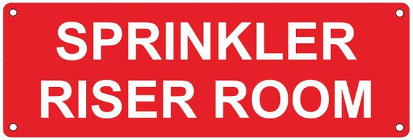 Sprinkler Riser Room Sign Reflective