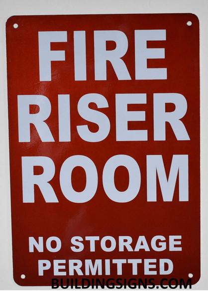 FIRE Riser Room SIGNAGE (White,Reflective !! Aluminium  -Rust Free)