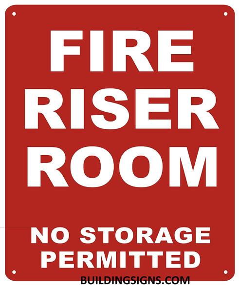 FIRE Riser Room Sign