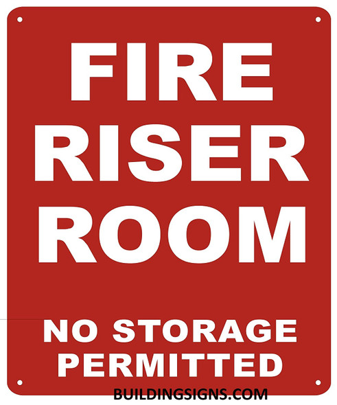 FIRE Riser Room Sign (White,Reflective !! Aluminium  -Rust Free)